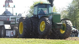 John Deere 4350 Giving It All Up Trying To Make The Fullpull in Sdr. Vissing Tractor Pulling DK