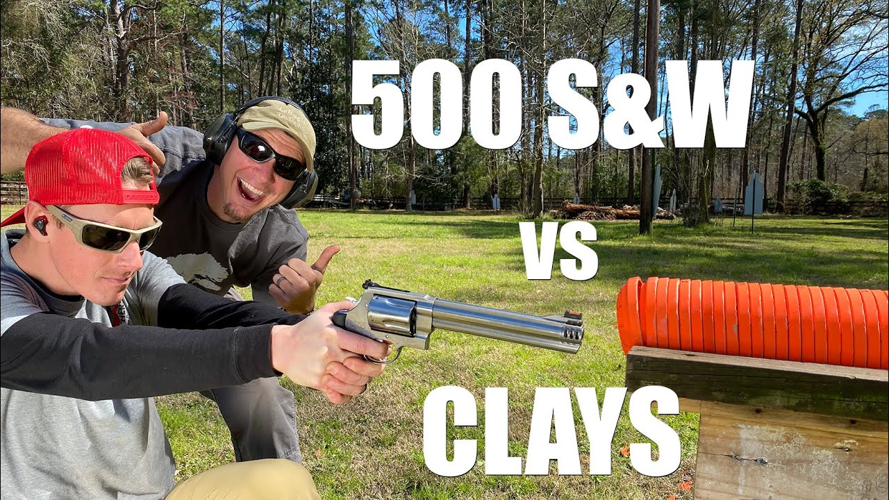 500 S&W vs Clay Pigeons 💥 How Many Will It Shoot Through? | Gould Brothers
