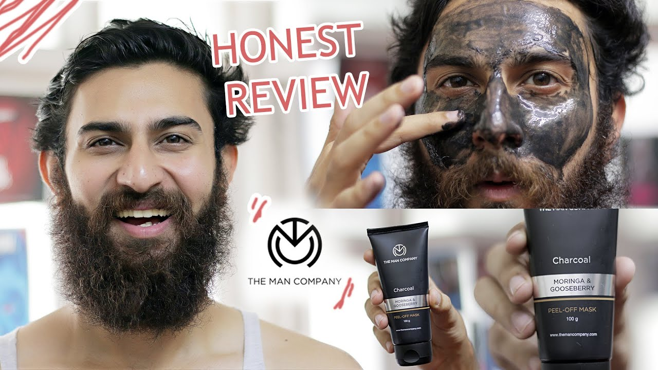 Charcoal Peel Off Mask The Man Company Honest Review Effects Benefits How To Use Youtube