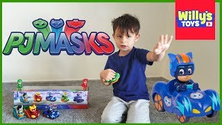 PJ Masks Race Into the Night Mini Vehicles Set TOY REVIEW - Catboy and Gekko - Willy's Toys