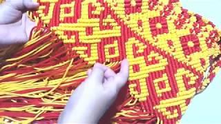 Download Video Part 8  DIY Macrame tote bag, lanjutan membuat motifnya tas talikur motif kalimantan MP3 3GP MP4