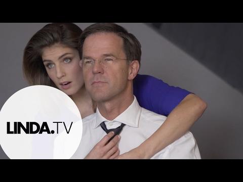 Mark Rutte en Marieke Elsinga voor LINDA.151 || Backstage || LINDA.tv