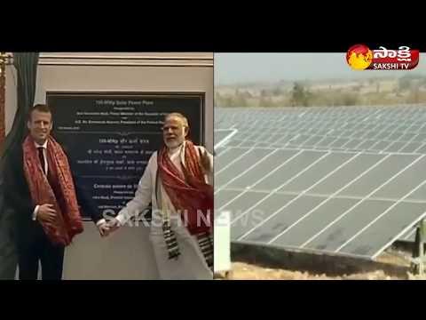PM Modi, Macron inaugurate UP's biggest solar power plant