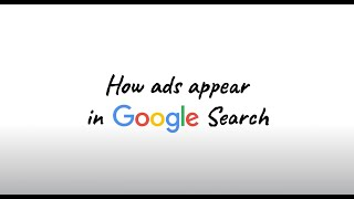 How ads appear in Google Search