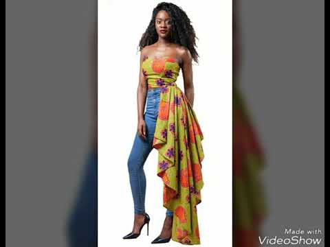 mode femme africaine pagne wax youtube. Black Bedroom Furniture Sets. Home Design Ideas