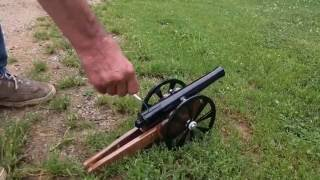 A Very Small Cannon - Homemade Cannon Gets Shot Off