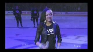 Cymphonique singing the National Anthem at LA Kings Game