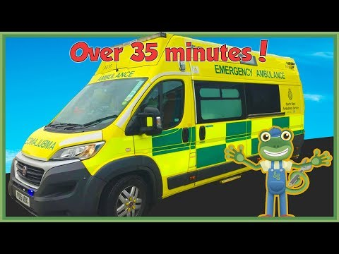 Gecko Meets an Ambulance and More Vehicles For Children | Gecko's Real Vehicles