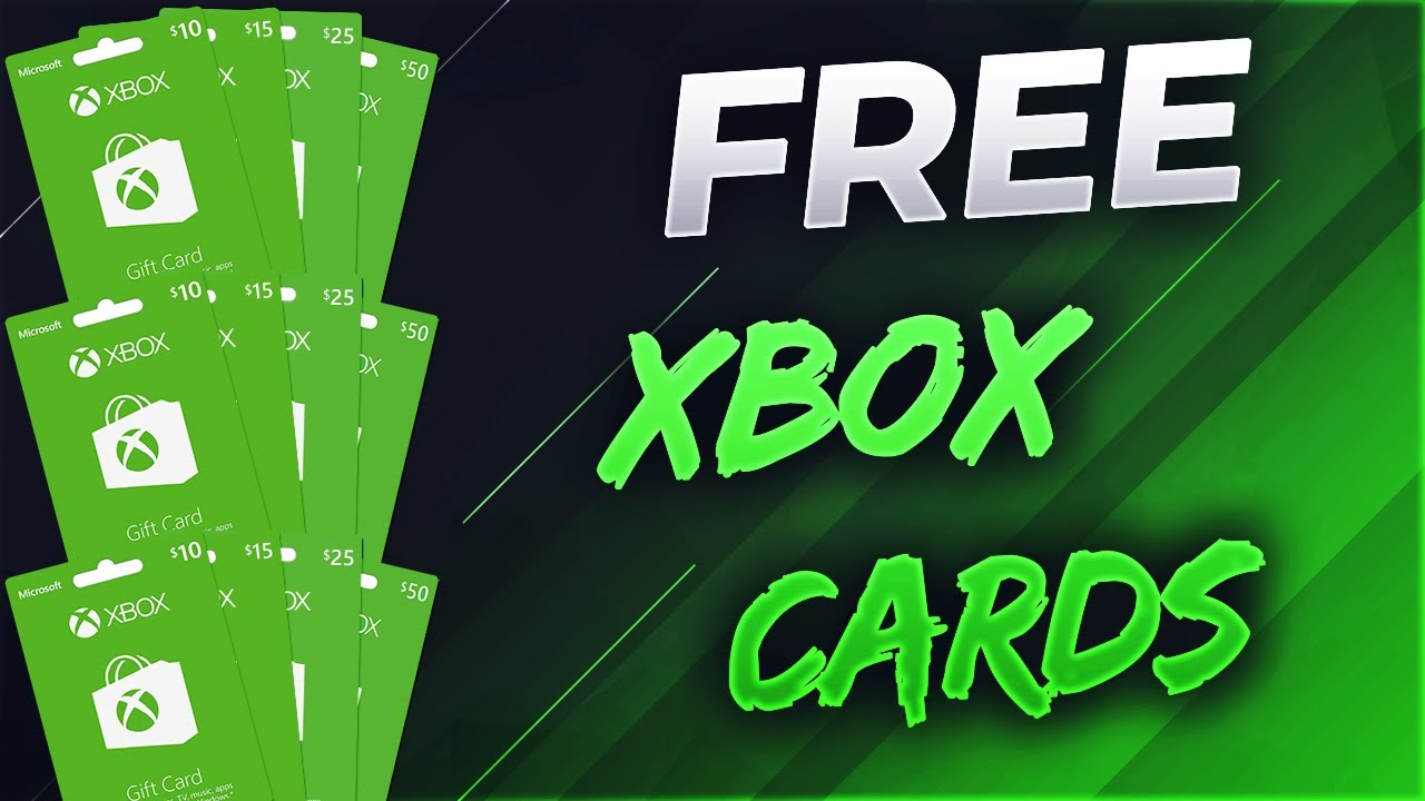 Free Xbox Gift card Codes 💎 get your free codes now iOS and Android [English]