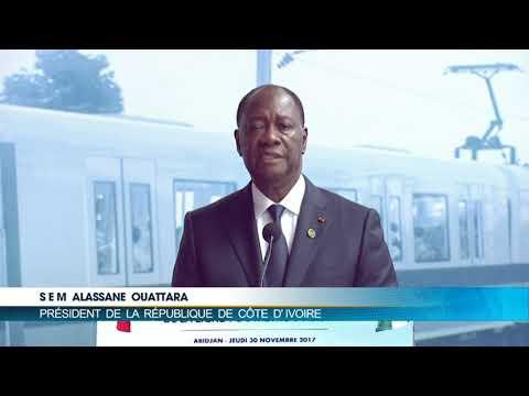 """Alassane Ouattara : """" Il était impensable qu'Abidjan n'ait pas son Métro""""."""
