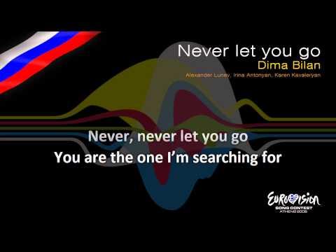 Dima Bilan  Never Let You Go Russia  Karaoke version