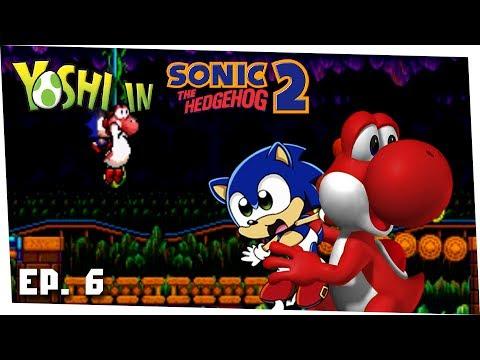 Caverna do Karaoke - Yoshi in Sonic 2 Ep. 6 - Gameplay Mega Drive