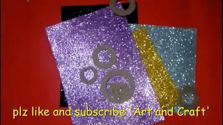 Diy Wall Decoration Idea    Wall Decoration From Glitter Sheet