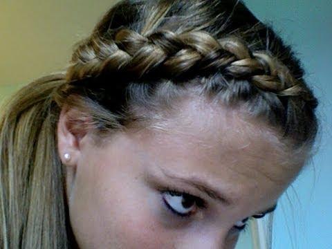 dutch braid ponytail tutorial youtube