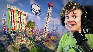 100 Minecraft -pelaajaa rakentaa huvipuiston!