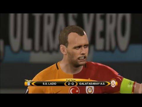 PES 2016 - UEFA Europa League - SS Lazio vs Galatasaray SK Gameplay (PS4 HD) [1080p60FPS]