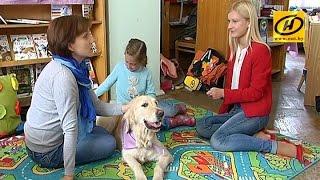 Собаки помогают детям лучше учиться - канистерапия в Беларуси.