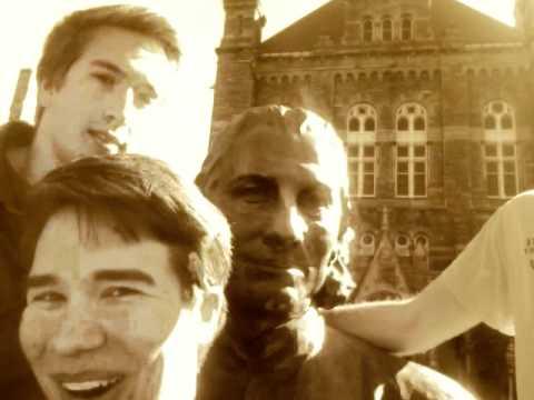 Chattin with the John Carroll Statue