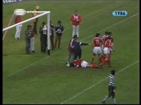 Benfica - 5 x Sporting - 0 de 1985/1986 1/4 Final Taça de Portugal