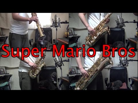 """Super Mario Bros."" on Sax Quartet by myself"