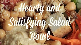 Hearty & Satisfying Salad Bowl | By: What Chelsea Eats