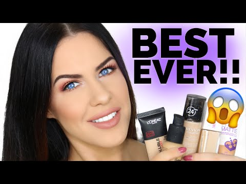 TOP 5 AFFORDABLE DRUGSTORE FOUNDATIONS FOR OILY SKIN!!!