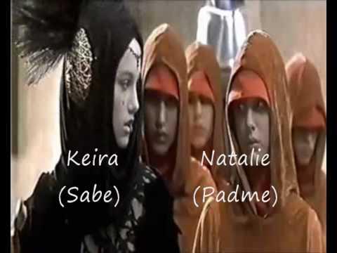 Keira Knightley & Natalie Portman in Star Wars 1