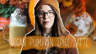 Easy 5 Minute Vegan Pumpkin Spice Latte ☕