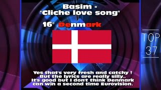 Eurovision 2014: TOP 37 (with comments)
