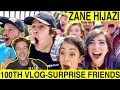 Zane Hijazi 100th Vlog Surprising My Best Friends reaction Tyler Wibstad