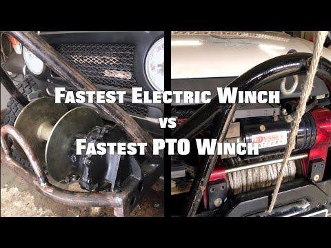 The Fastest Electric Winch Vs Fastest PTO Winch