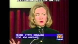 1996: Hillary Clinton on