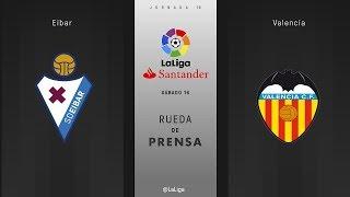 Rueda de prensa Eibar vs Valencia