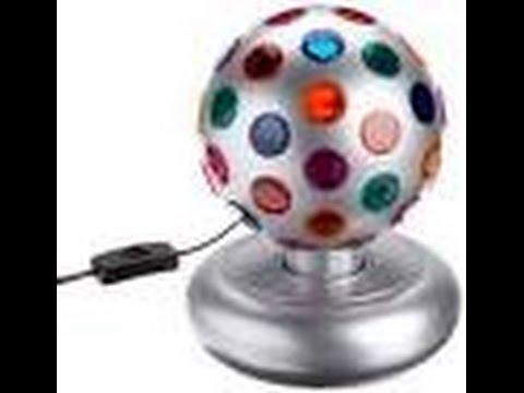 Bola de luz giratoria parte 3 youtube - Bola de discoteca de colores ...