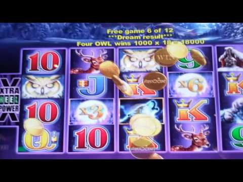 Timberwolf slot machine..nice bonus - Mystic Lake Casino