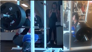 believe and grind my first 500 lb squat attempt