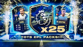 25 X GUARANTEED EPL TOTS PLAYER PACKS!!! FIFA 21