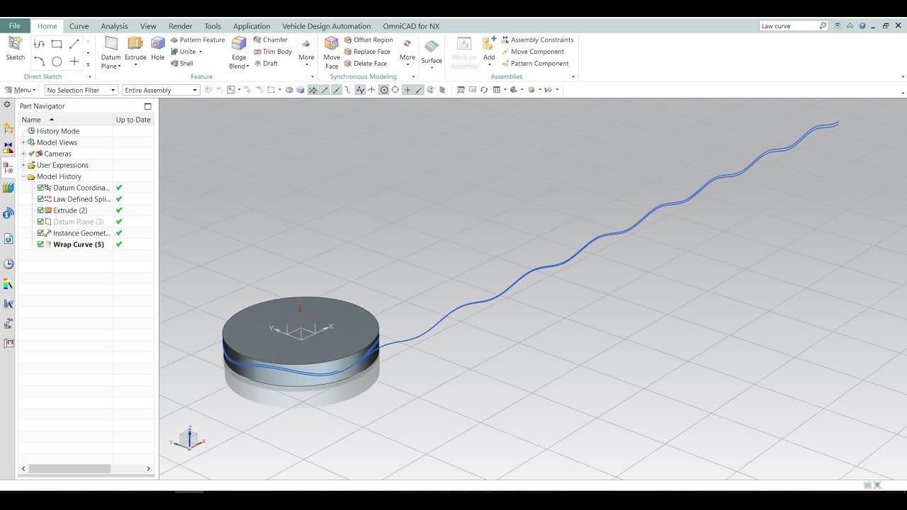Wrap Curve Law Define Spline Instance Geometry In Nx Siemens 10