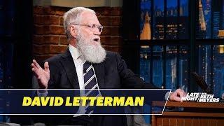 David Letterman Forgets He Has a Beard