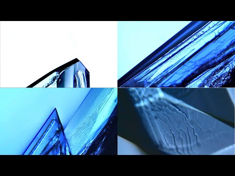 La cristallisation du sulfate de cuivre filmée au microscope - timelapse