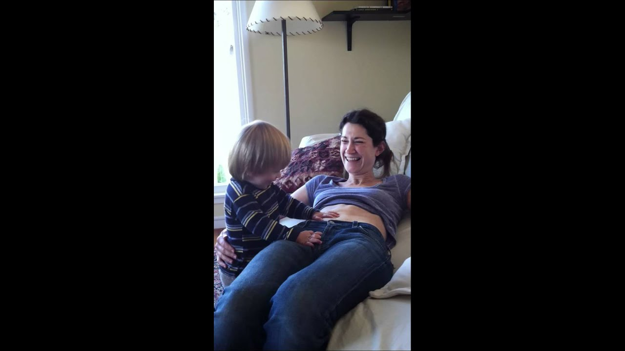 Watch Mom In Bedroom Camera: HTR Belly Blowing On Mom 19 Months