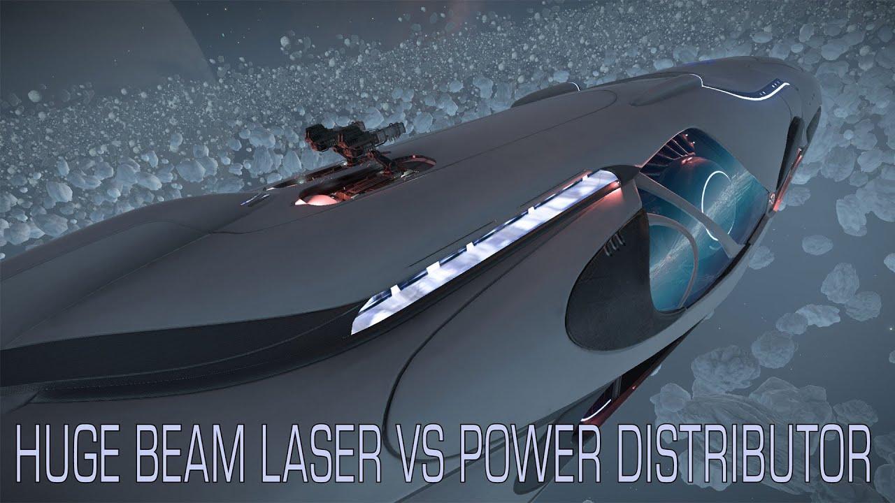 Elite:Dangerous  Imperial Cutter  Huge Beam Laser vs modified Power  Distributor