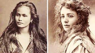 前世紀を生きた美しい女性の100年前の写真