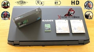 SAGER NP9377-S **980M SLI** (5 TB Hard Drive Installation Tutorial)