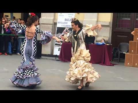 Baile Por Sevillana  Alba Y Andrea
