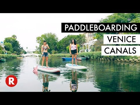 Paddleboarding For The First Time // Venice Canals, Venice Beach, CA