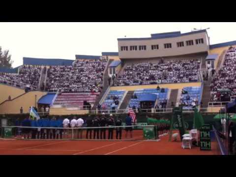 U.S. Davis Cup Team Introducted On Court In Tashkent, Uzbekistan