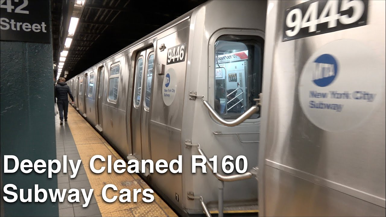⁴ᴷ Deeply Cleaned R160 Subway Cars on the (Q) and (W) Lines