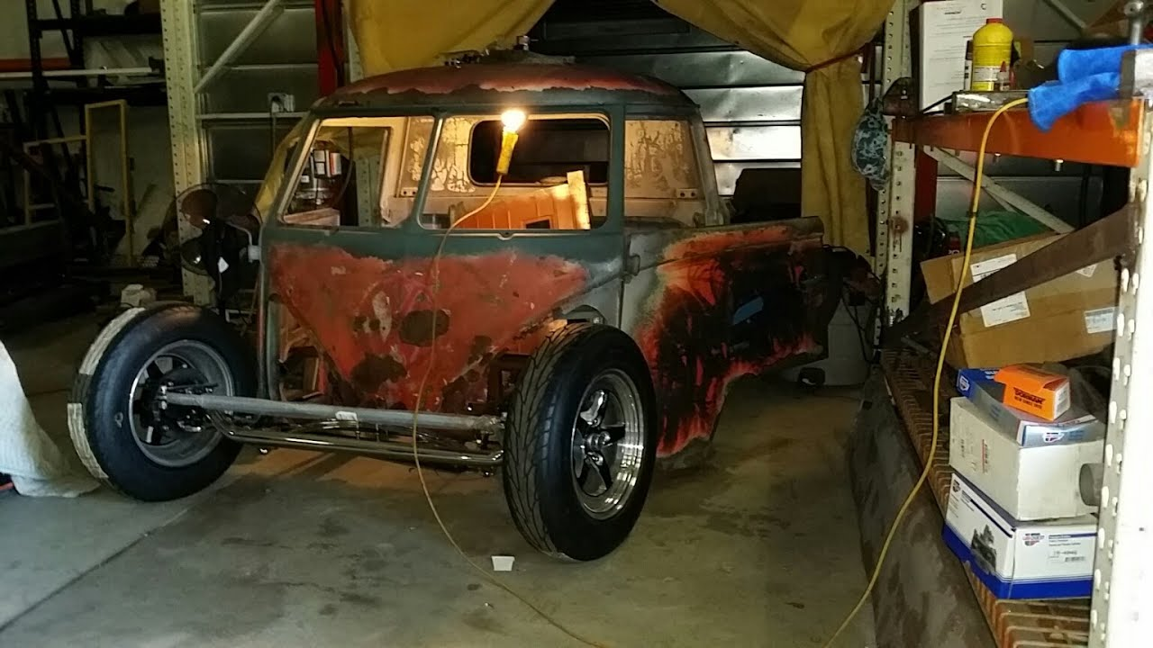 vw single cab street rod part  youtube