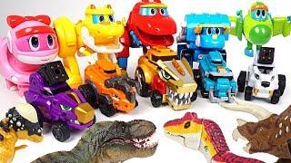 Tayo is dangerous! Transformation dinosaur GoGoDino and DinoCore combination attack!! - DuDuPopTOY